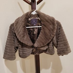 Faux fur jacket by Forever 21, size S/P